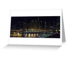 A View of the Chicago River Greeting Card