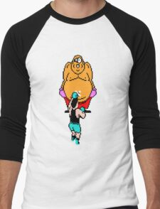 Punch Out King Hippo Men's Baseball ¾ T-Shirt