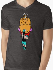 Punch Out King Hippo Mens V-Neck T-Shirt