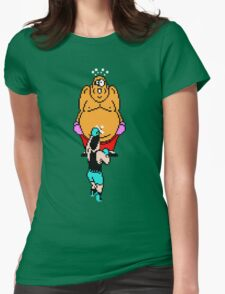 Punch Out King Hippo Womens Fitted T-Shirt