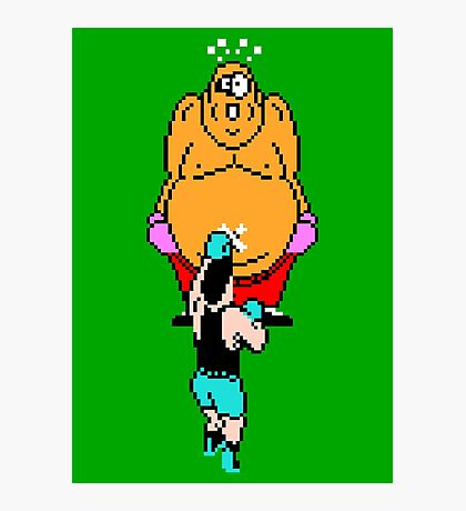 Punch Out King Hippo Photographic Print
