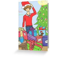 Harry Styles One Direction Christmas Greeting Card