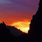 Desert Mountain Sunset by 2HivelysArt