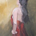 Lady in red dress II by Caroline Martin