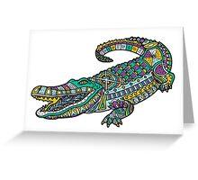 ornate crocodile Greeting Card
