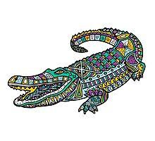 ornate crocodile Photographic Print