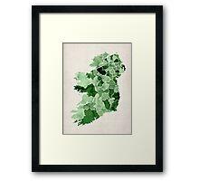 Ireland Watercolour Map Framed Print