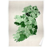 Ireland Watercolour Map Poster