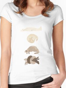 Chart of ferret sleep positions Women's Fitted Scoop T-Shirt