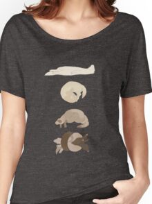 Chart of ferret sleep positions Women's Relaxed Fit T-Shirt