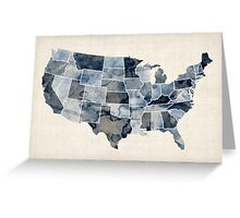 United States Watercolor Map Greeting Card