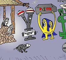 Yen Euroman et Bucky les monnaies sages caricature by Binary-Options