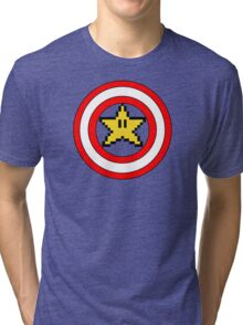 Captain Mario Tri-blend T-Shirt