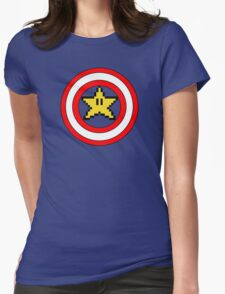 Captain Mario Womens Fitted T-Shirt