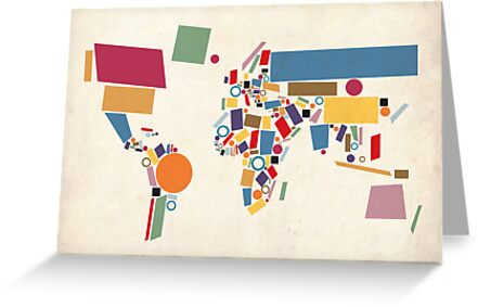 World Map Abstract by Michael Tompsett
