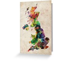 United Kingdom Watercolor Map Greeting Card