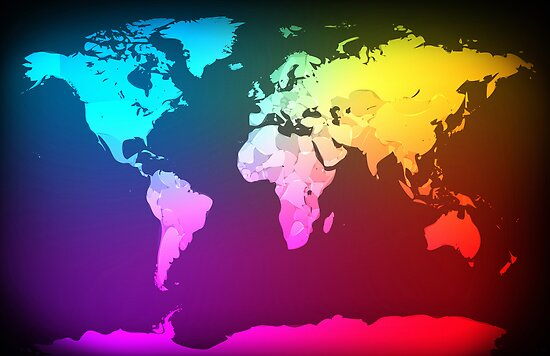 Abstract Map of the World by Michael Tompsett