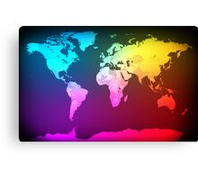 Abstract Map of the World Canvas Print