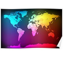 Abstract Map of the World Poster