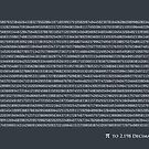 Pi to 2,198 decimal places by ArtPrints