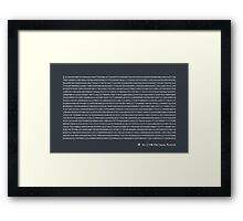 Pi to 2,198 decimal places Framed Print