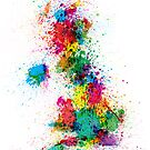 Great Britain UK Map Paint Splashes by ArtPrints