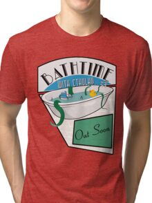 BathTime With Cthuhlu Tri-blend T-Shirt