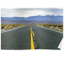 Highway 190 Death Valley California  Poster