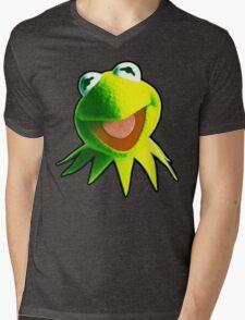 Green Mens V-Neck T-Shirt