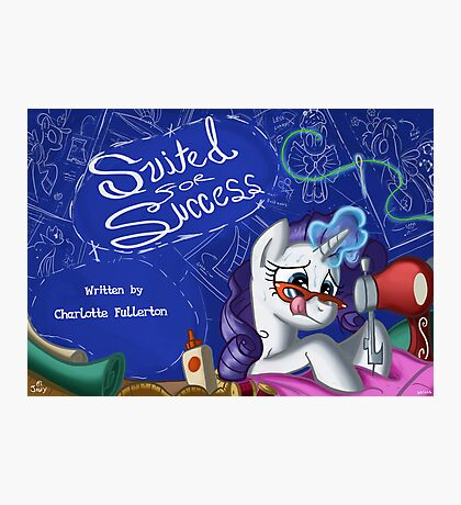Suited for Success :MLP FIM title card series  Photographic Print