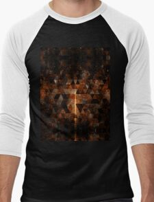 Gold beam in geometric sparkly universe Men's Baseball ¾ T-Shirt