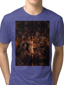 Gold beam in geometric sparkly universe Tri-blend T-Shirt