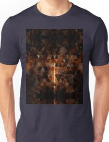 Gold beam in geometric sparkly universe Unisex T-Shirt
