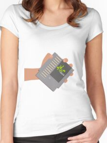 Vsauce outro NES cartridge Women's Fitted Scoop T-Shirt