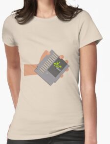 Vsauce outro NES cartridge Womens Fitted T-Shirt