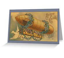 Vintage Bonne Anne Blimp Greetings Greeting Card