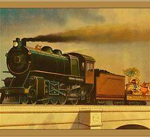 Vintage Coal Train Greetings by Yesteryears