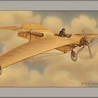 Vintage REP Monoplane Greetings by Yesteryears
