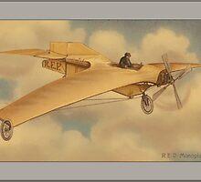 Vintage REP Monoplane Greetings by Yesteryears