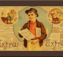 Vintage Newspaper Advertising Greetings by Yesteryears