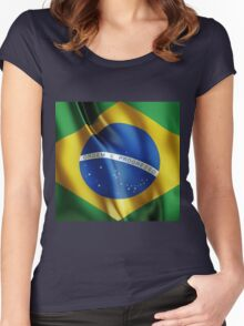 Brazil flag Women's Fitted Scoop T-Shirt