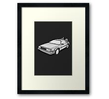 Back to the Future Delorean  Framed Print