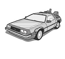 Back to the Future Delorean  by Creative Spectator