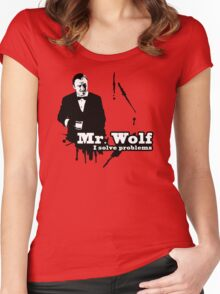 Mr. Wolf Women's Fitted Scoop T-Shirt