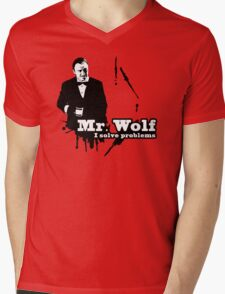 Mr. Wolf Mens V-Neck T-Shirt