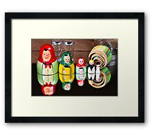 Matryoshka dolls Framed Print
