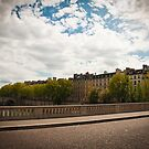 Over a bridge in Paris by pahas