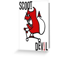 Scoot Devil (Large) Greeting Card