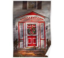 Door - Winter - Christmas kitty Poster