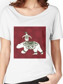 Winter Pals Red Women's Relaxed Fit T-Shirt